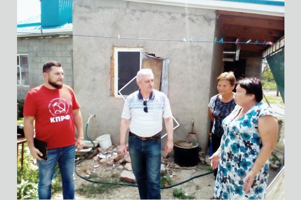 Руководство КПРФ и фракция коммунистов в Госдуме оказали помощь жителям станицы Новокорсунской